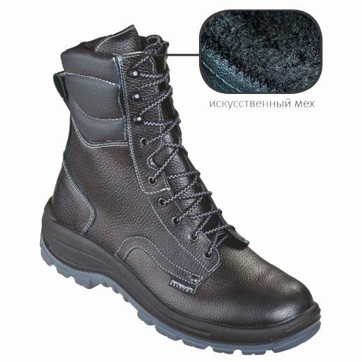 Д234 Ботинки ОМОН кожаные, меховые