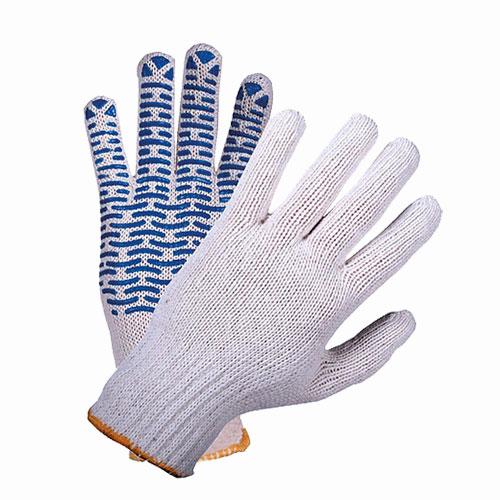 В204 Перчатки трикотажные с ПВХ ВОЛНА 5-нитка