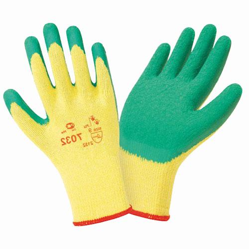 В205 Перчатки трикотажные с латексным покрытием усиленные 7032