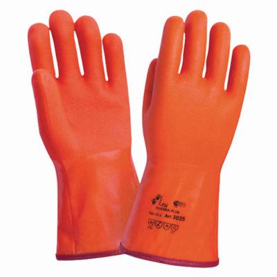В227 Перчатки морозоустойчивые ПВХ удлиненная крага