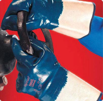В247 Перчатки ХАЙКРОН 27-805 с нитриловым покрытием, крага, покрытие полностью